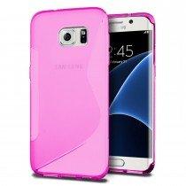 Hoesje Samsung Galaxy S7 Edge TPU case roze