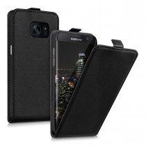 Hoesje Samsung Galaxy S7 flip case dual color zwart