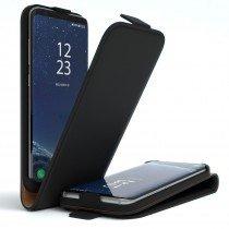 Hoesje Samsung Galaxy S8 flip case dual color zwart