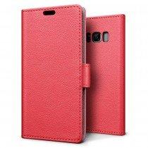 Hoesje Samsung Galaxy S8 flip wallet rood