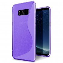 Hoesje Samsung Galaxy S8 Plus TPU case paars