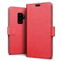 Hoesje Samsung Galaxy S9+ flip wallet rood