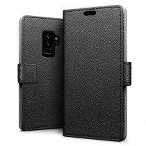 Hoesje Samsung Galaxy S9+ flip wallet zwart