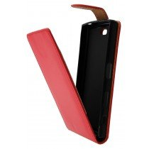 Hoesje Sony Xperia X Compact flip case rood