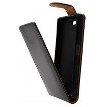 Hoesje Sony Xperia X Compact flip case zwart