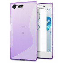 Hoesje Sony Xperia X Compact TPU case paars