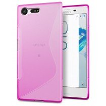 Hoesje Sony Xperia X Compact TPU case roze