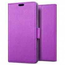 Hoesje Sony Xperia X flip wallet paars