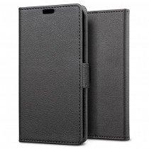 Hoesje Sony Xperia X flip wallet zwart