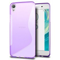 Hoesje Sony Xperia X TPU case paars