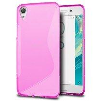 Hoesje Sony Xperia X TPU case roze