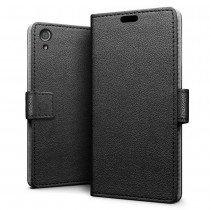 Hoesje Sony Xperia XA1 flip wallet zwart