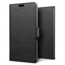 Hoesje Sony Xperia XA1 Plus flip wallet zwart