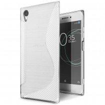 Hoesje Sony Xperia XA1 Plus TPU case transparant