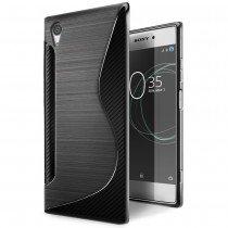 Hoesje Sony Xperia XA1 Plus TPU case zwart