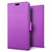 Hoesje Sony Xperia XZ flip wallet paars