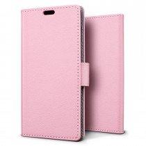 Hoesje Sony Xperia XZ flip wallet roze