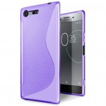 Hoesje Sony Xperia XZ Premium TPU case paars