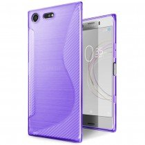 Hoesje Sony Xperia XZ1 Compact TPU case paars