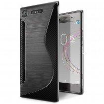 Hoesje Sony Xperia XZ1 TPU case zwart