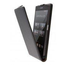 Hoesje Sony Xperia Z5 flip case dual color zwart - Open