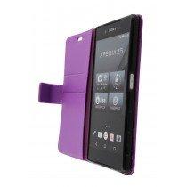 Hoesje Sony Xperia Z5 flip wallet paars