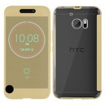 HTC 10 Smart Ice View cover goud