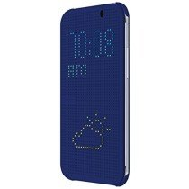 HTC One E8 Dot view flip case HC M110 blauw