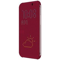 HTC One E8 Dot view flip case HC M110 paars
