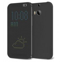 HTC One M8/M8s Dot view flip case HC M100 grijs