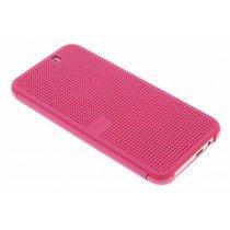 HTC One M9 Dot view flip case HC M231 roze