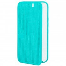 Voorkant - HTC One M9 Dot view Ice flip case HC M232 licht blauw