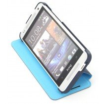 HTC One Mini flip case met stand HC V851 blauw