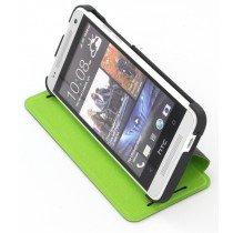 HTC One Mini flip case met stand HC V851 zwart / groen