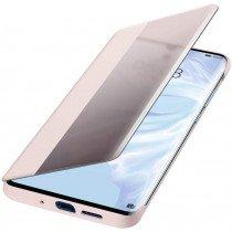 Huawei P30 Pro Smart view flip case origineel roze