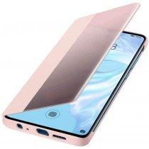 Huawei P30 Smart view flip case origineel roze