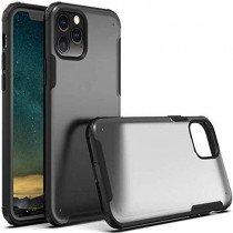 iPhone 11 Pro Hybrid Shockproof Bumper semi transparant/zwart (mat)