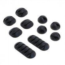Kabelclips - kabelmanagement set van 10 stuks - zwart