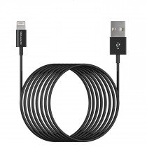 Lightning naar USB kabel iPhone / iPad 3 meter zwart