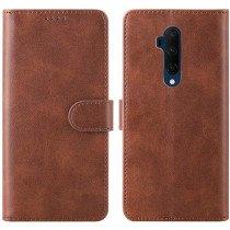 Luxury book case OnePlus 7T Pro bruin