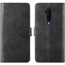 Luxury book case OnePlus 7T Pro zwart