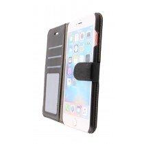 Open - Luxury wallet hoesje Apple iPhone 6S Plus zwart