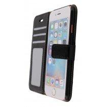 Luxury wallet hoesje Apple iPhone 6S zwart - Open