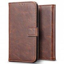 Luxury wallet hoesje Apple iPhone 7 bruin