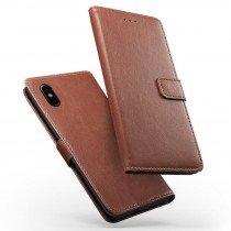 Luxury wallet hoesje Apple iPhone X bruin
