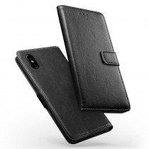 Luxury wallet hoesje Apple iPhone X zwart