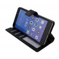 Luxury wallet hoesje Huawei Honor 7 zwart
