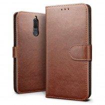 Luxury wallet hoesje Huawei Mate 10 Lite bruin