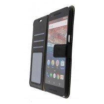 Luxury wallet hoesje Huawei Nexus 6P zwart - Open
