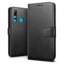 Luxury wallet hoesje Huawei P Smart+ 2019 zwart